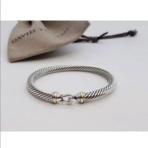 David Yurman Cable 5mm Gold Buckle bracelet 18k